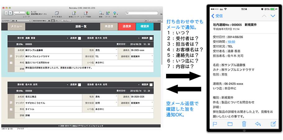 社内連絡メール画面画像